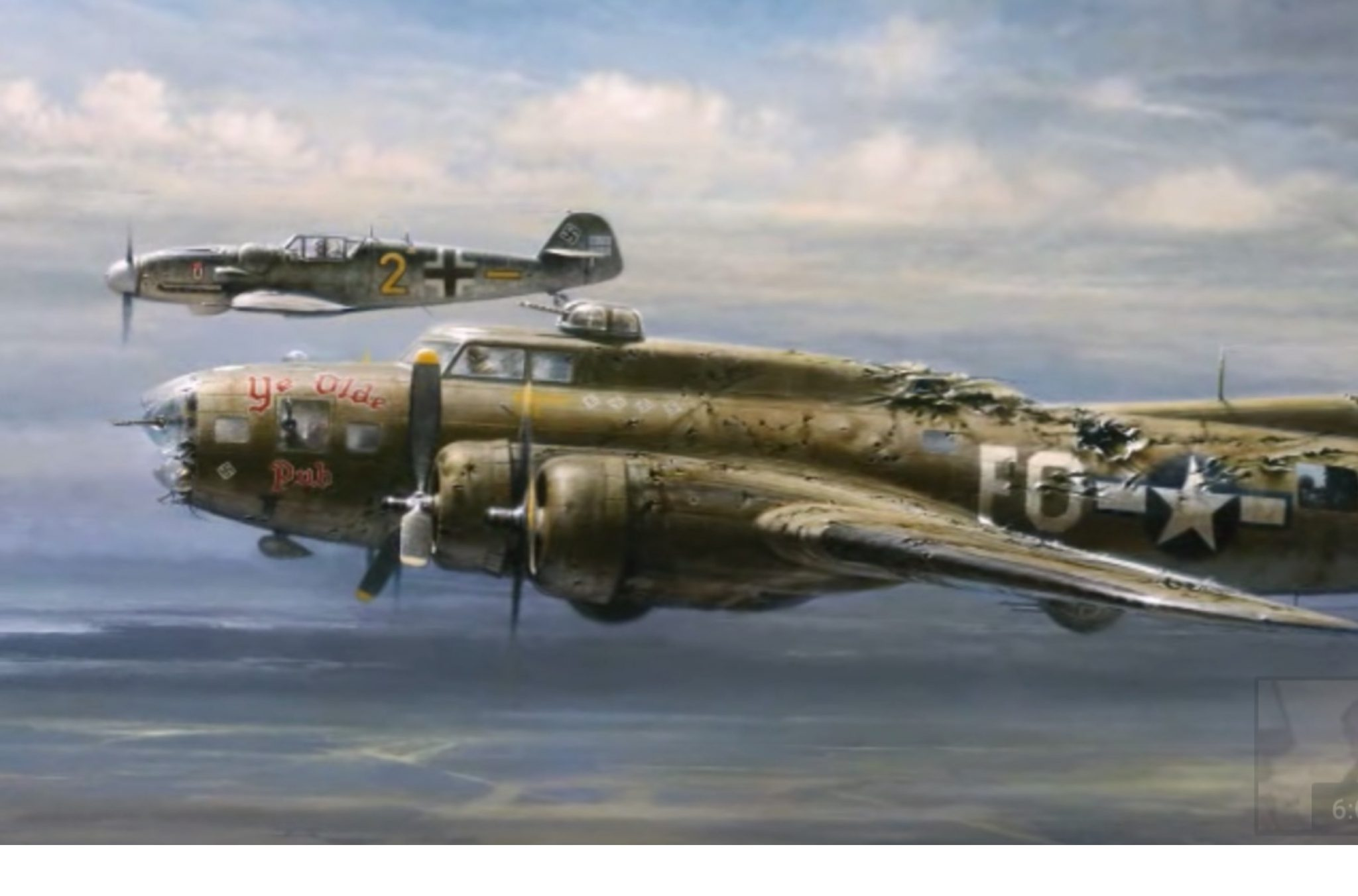 Ww1 German Planes >> Brotherhood in The Skies: The Nazi Pilot Could Have Shot Down The American B-17 But Gave Him ...