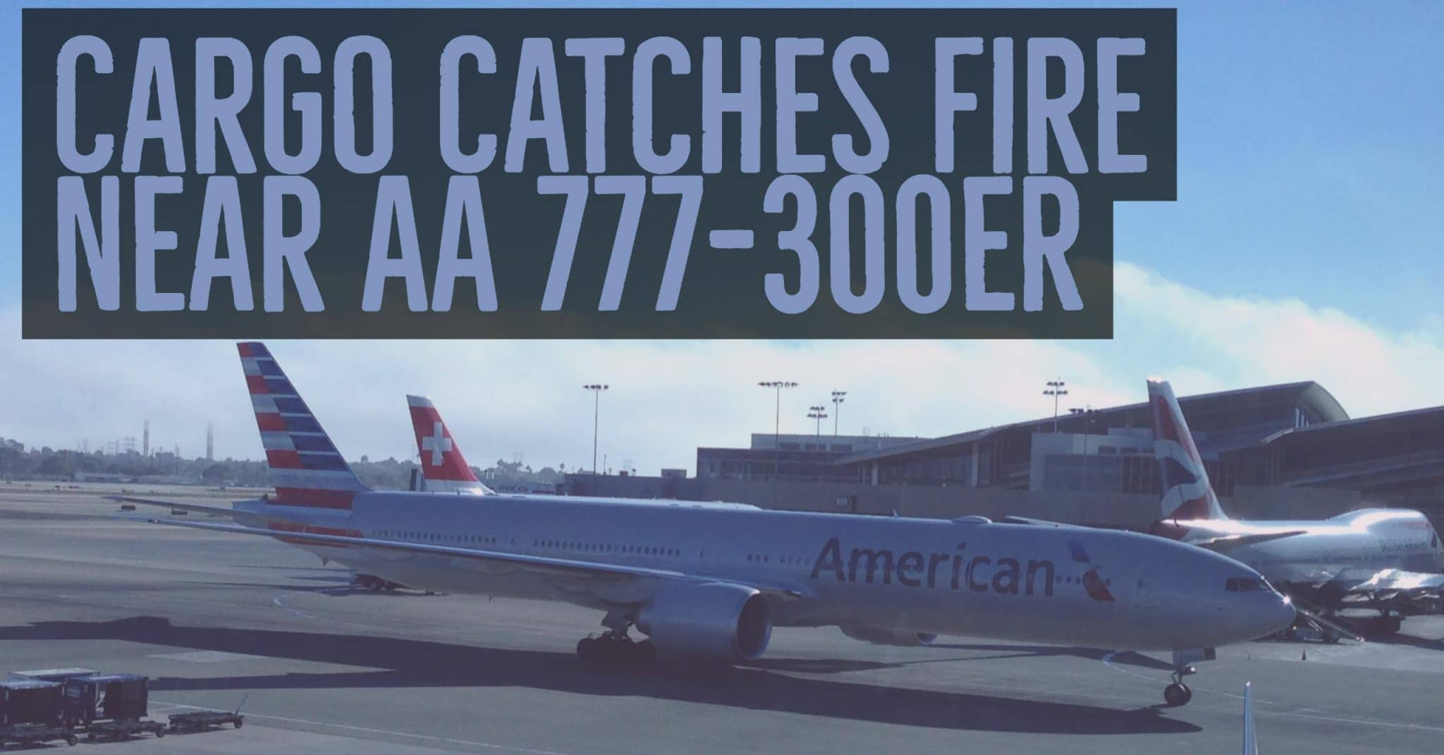 Breaking Fire Extinguished Near Cargo Hold Of American